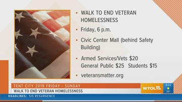 Walk to End Veteran Homelessness takes place Friday