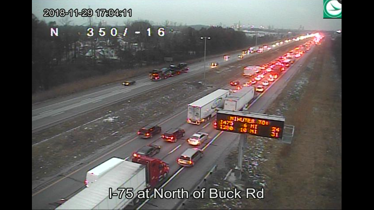 NB I-75 lanes are closed at 198 mile marker | wtol com