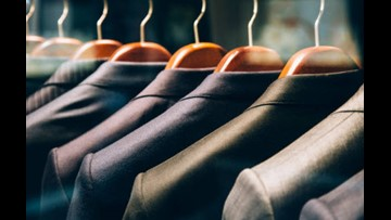 Donate dress clothes for those who need them at Levis Commons suit drive