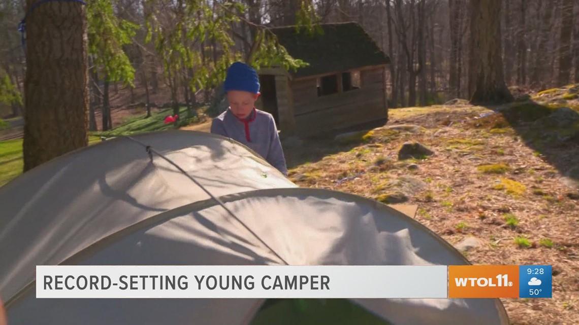 Reason to Smile: 13-year-old sets backyard camping record