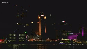 A dimmer skyline for downtown Toledo is part of the Lights Out project