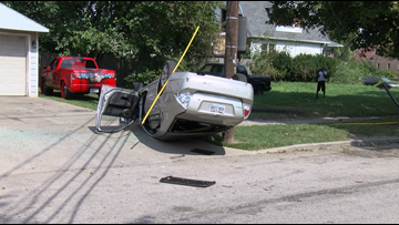 Police searching for driver in north Toledo rollover crash