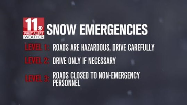 Several counties in northwest Ohio under level 1 snow emergency