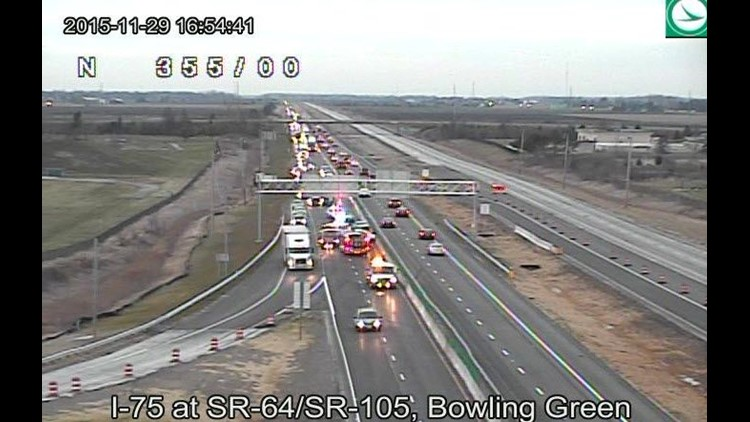 I-75 southbound traffic slowed near BG exit due to accident