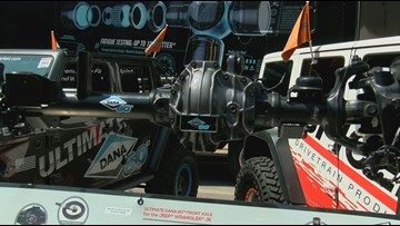 Maumee's Dana showing off beefier axles at Jeep festival