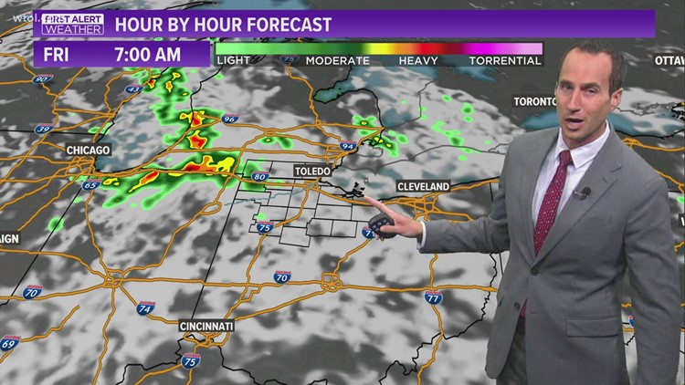 First Alert Forecast | Scattered storms possible Friday morning