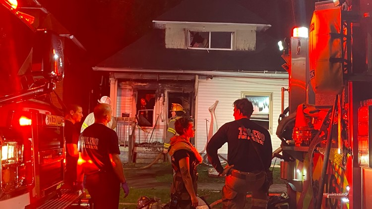 Fire tears through central Toledo home where 18-year-old was shot, killed the previous night