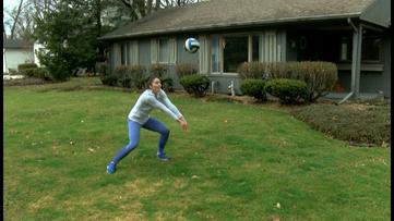 Future Falcon creates unique workouts to prepare for collegiate volleyball career
