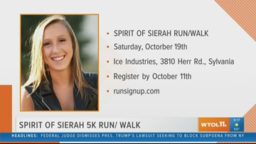 'Spirit of Sierah' 5K steps off next weekend