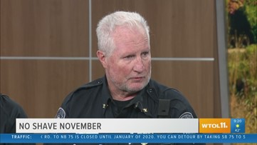 Maumee PD participate in 'No-Shave November'