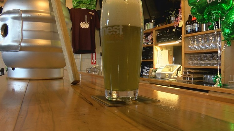 This green beer is made with kale found at Earnest Beer Works