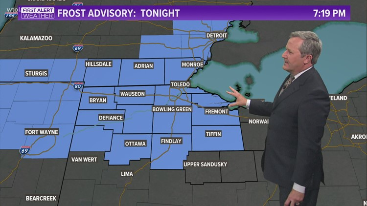 Frost advisory tonight, mostly sunny Tuesday | First Alert forecast - May 10, 7 p.m.