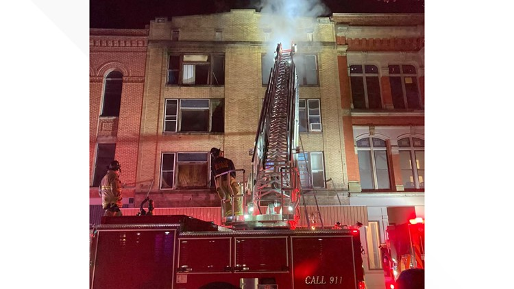 Residents trapped in morning fire at Burwell Building