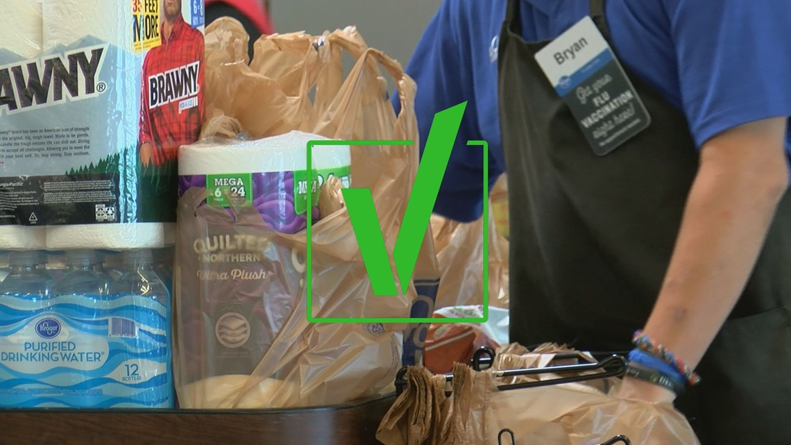 VERIFY: Even with precautions, can grocery bags carry COVID-19?