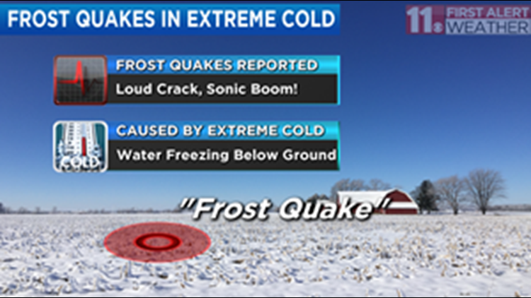 What is a frost quake, and did you hear one last night?