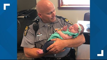Ohio troopers save pregnant woman in bus accident, meet baby months later