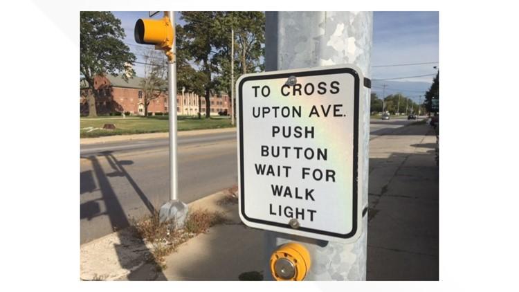 A crosswalk on Upton Avenue in Toledo