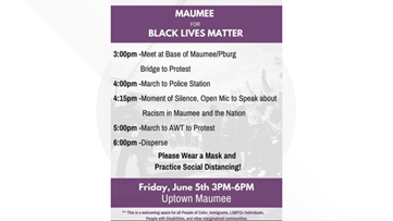 Protest planned in Maumee on Friday
