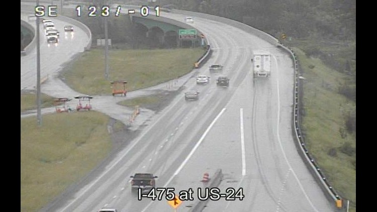 Both lanes now open on SB I-475 at US 24 after accident | wtol com