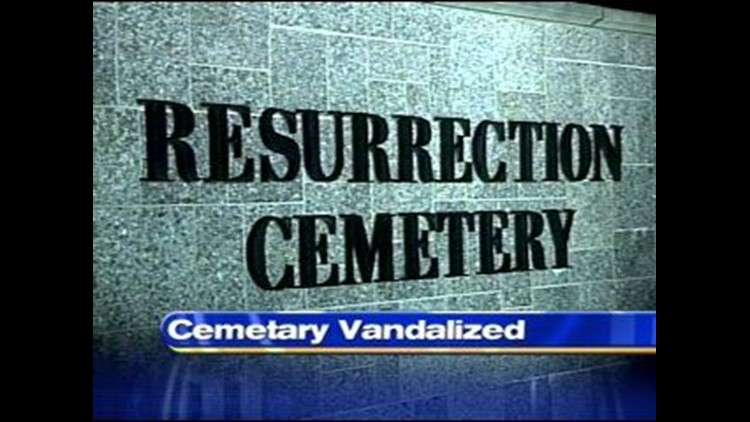 Toledo's largest Catholic cemetery, becomes the victim of vandals