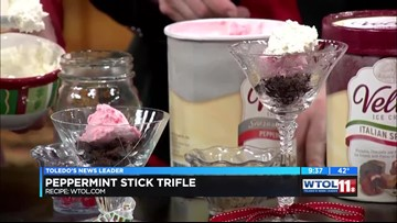 Connie Cahill & Kroger Peppermint Stick Trifle