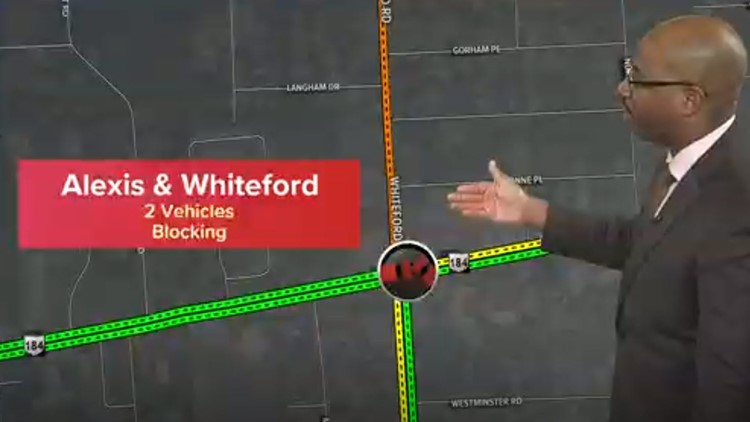 2-vehicle crash on Alexis Road has lanes closed near Whiteford
