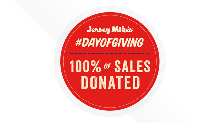 Eat a Sub, Help a Charity for Jersey Mike's Day of Giving