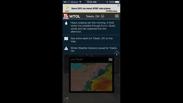 Download the First Alert weather app for Alert Day updates