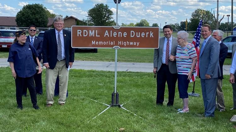 Highway dedicated in memory of 1st female US Navy admiral, Henry Co. native Alene Duerk