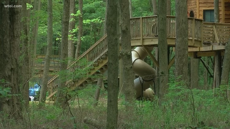Enter the Courageous Community Service raffle to spend a night in an Oak Openings treehouse