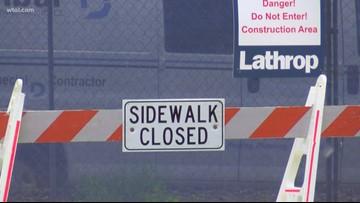 Demolition underway for Imagination Station pedestrian bridge