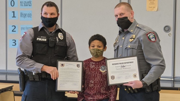 10-year-old Ohio boy rewarded for helping rescue his family from armed intruder