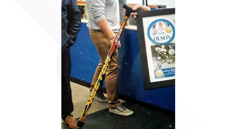An 86-year-old Olympian's custom cane is missing - can you help?