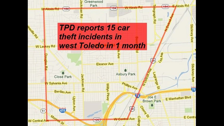 15 car theft incidents reported in same area in 1 month
