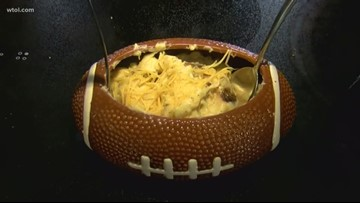 Tailgate food fight: Blackened chicken  macaroni and cheese vs. Shrimp Etouffee