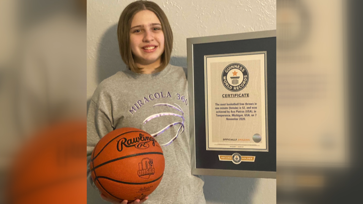Ohio seventh-grader breaks Guinness World Record for free throws in a minute