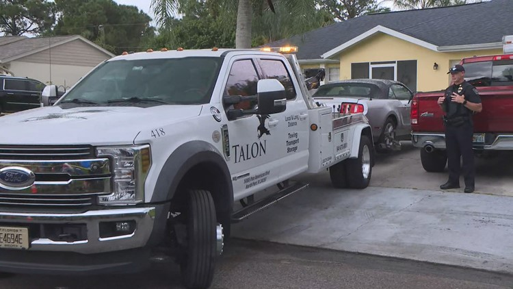 Brian Laundrie's car towed as FBI executes search warrant at North Port home