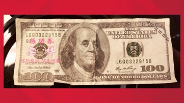 If you receive U.S. cash with 'Asian markings' like these, call police immediately