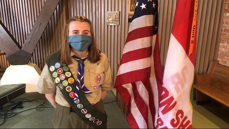 Michigan teen makes history as one of the first female Eagle Scouts in the nation