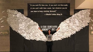 Michigan elementary students make wings out of 700 feathers to honor MLK