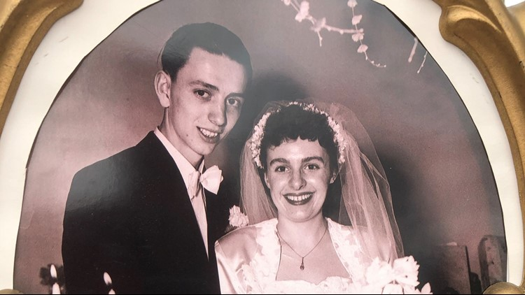 Roger and Phyllis Strauss were married May 5, 1950.