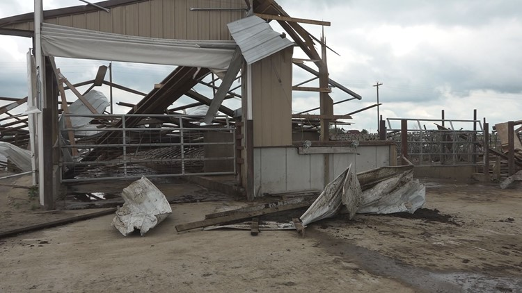 Neighbors, strangers help pick up the pieces for farm hit by tornado in west Michigan